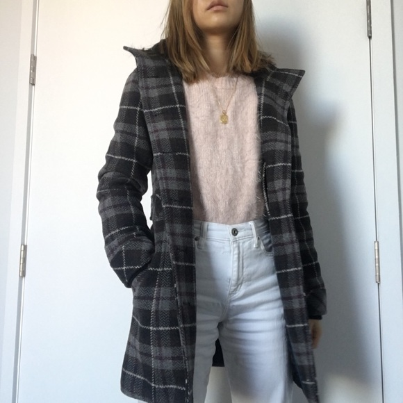 ea31bcb7867 Plaid wool coat. M 5c07f841aaa5b8764d5891cf